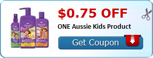 $0.75 off ONE Aussie Kids Product