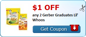 $1.00 off any 2 Gerber Graduates Lil' Whoos