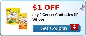 $1.00 off any 2 Gerber Graduate