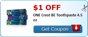 $1.00 off ONE Crest BE Toothpaste 4.5 oz
