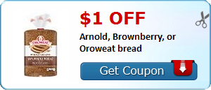 $1.00 off Arnold, Brownberry, or Oroweat bread